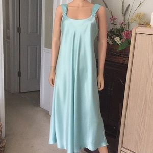 Enchanting...turquoise satin gown
